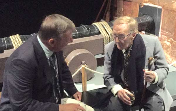 Picture of Tony Kench with Robert Hardy